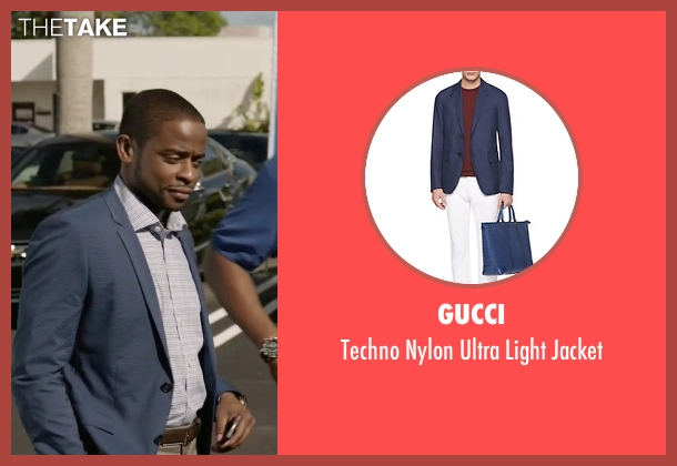 Gucci blue jacket from Ballers seen with Larry (Dulé Hill)