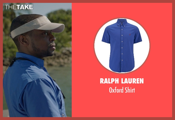 Ralph Lauren blue shirt from Ballers seen with Larry (Dulé Hill)
