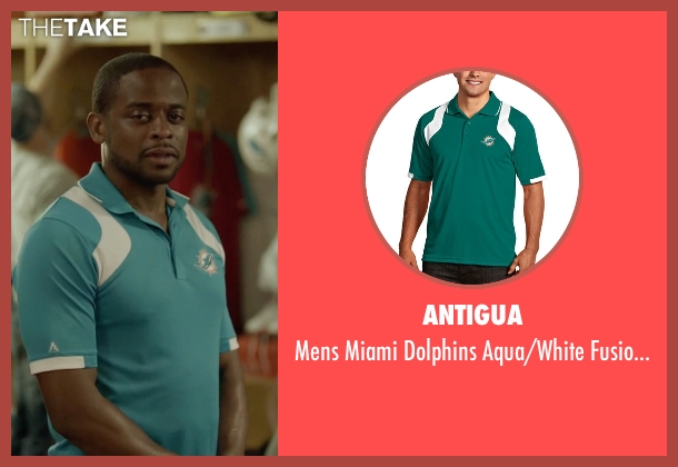 Antigua blue shirt from Ballers seen with Larry (Dulé Hill)