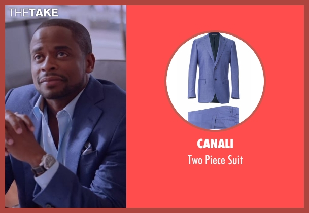 Canali blue suit from Ballers seen with Larry (Dulé Hill)