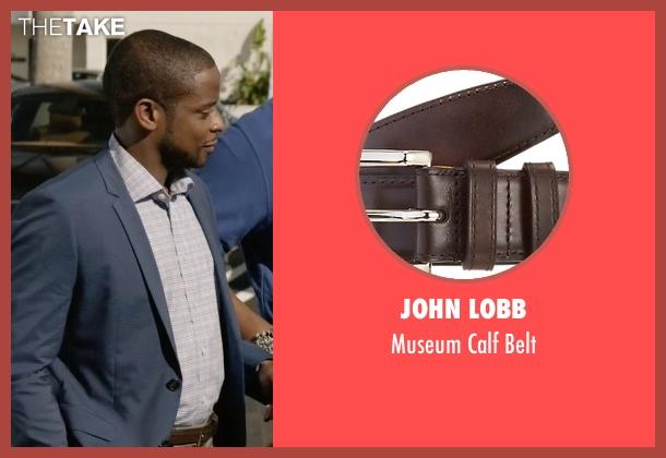 John Lobb brown belt from Ballers seen with Larry (Dulé Hill)