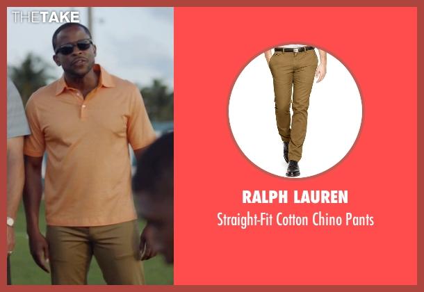 Ralph Lauren brown pants from Ballers seen with Larry (Dulé Hill)
