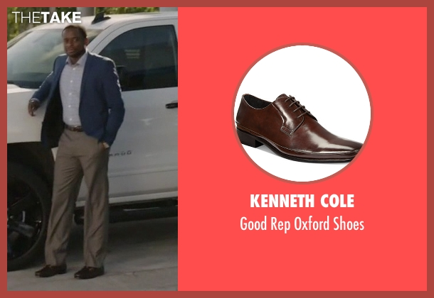Kenneth Cole brown shoes from Ballers seen with Larry (Dulé Hill)