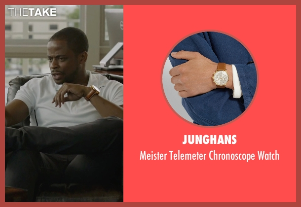 Junghans brown watch from Ballers seen with Larry (Dulé Hill)