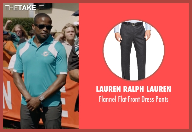 Lauren Ralph Lauren gray pants from Ballers seen with Larry (Dulé Hill)