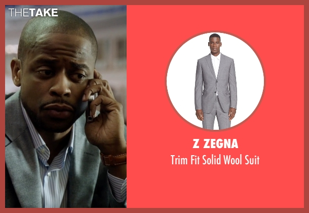 Z Zegna gray suit from Ballers seen with Larry (Dulé Hill)