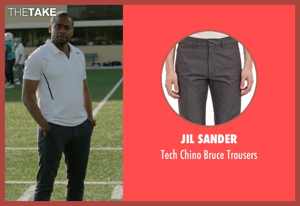 Jil Sander gray trousers from Ballers seen with Larry (Dulé Hill)