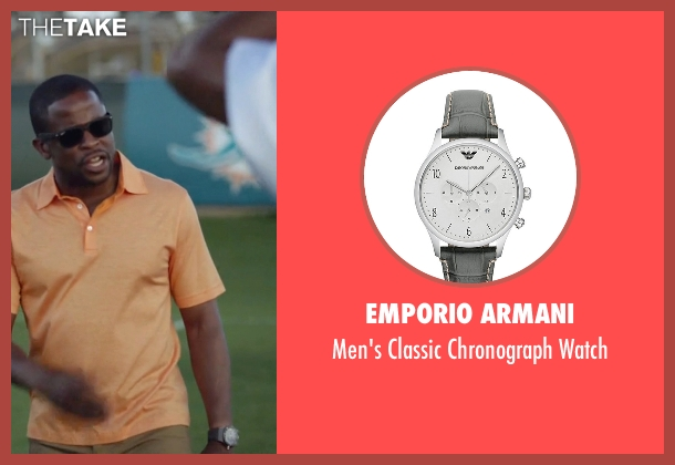 Emporio Armani gray watch from Ballers seen with Larry (Dulé Hill)