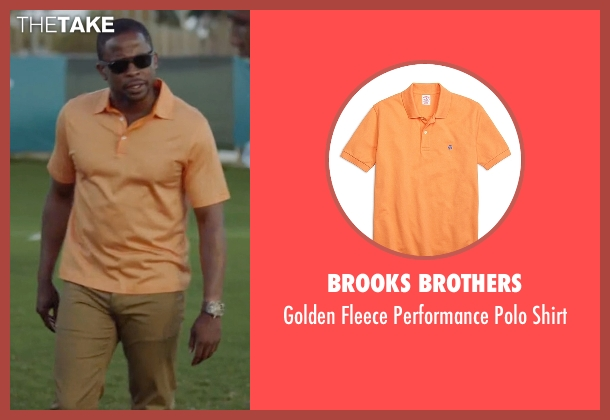 Brooks Brothers orange shirt from Ballers seen with Larry (Dulé Hill)