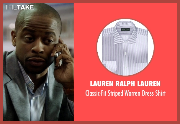 Lauren Ralph Lauren white shirt from Ballers seen with Larry (Dulé Hill)