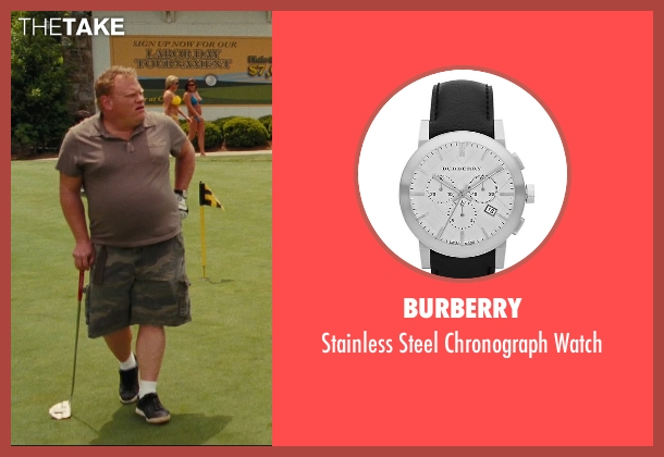 Burberry black watch from Hall Pass seen with Larry Joe Campbell (Hog-Head)