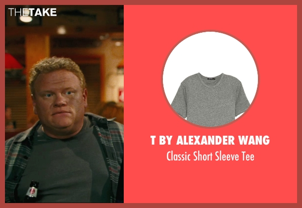 T by Alexander Wang gray tee from Hall Pass seen with Larry Joe Campbell (Hog-Head)