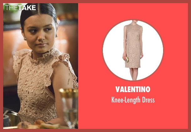 Valentino beige dress from Empire seen with Laura Calleros (Jamila Velazquez)