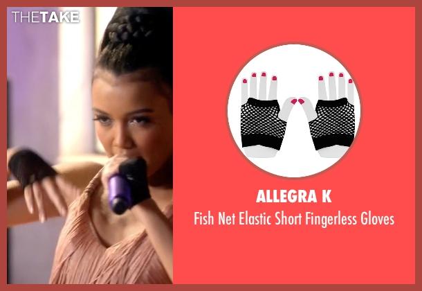 Allegra K black gloves from Empire seen with Laura Calleros (Jamila Velazquez)