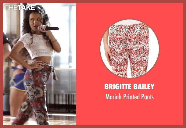 Brigitte Bailey black pants from Empire seen with Laura Calleros (Jamila Velazquez)