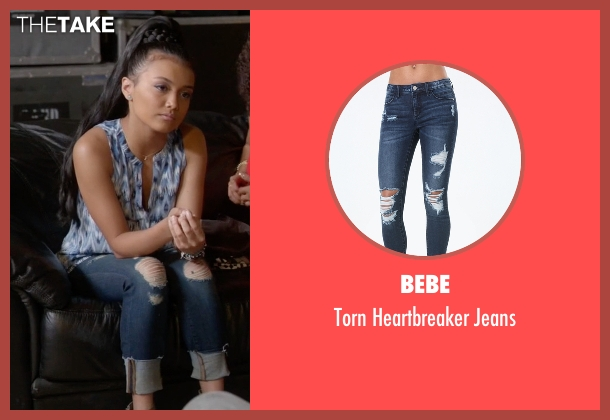 Bebe blue jeans from Empire seen with Laura Calleros (Jamila Velazquez)