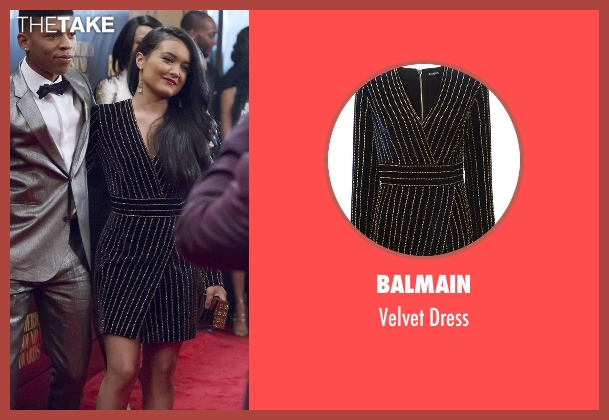 Balmain dress from Empire seen with Laura Calleros (Jamila Velazquez)