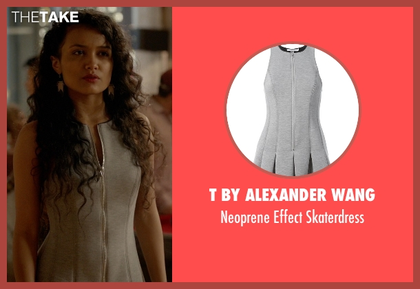 T By Alexander Wang gray skaterdress from Empire seen with Laura Calleros (Jamila Velazquez)