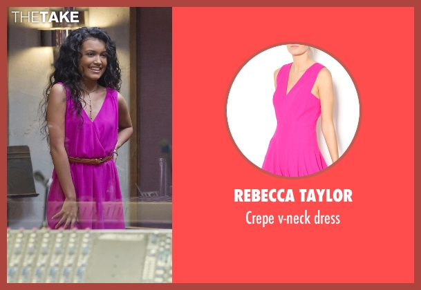 Rebecca Taylor pink dress from Empire seen with Laura Calleros (Jamila Velazquez)