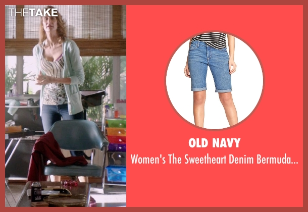 Old Navy blue shorts from 99 Homes seen with Laura Dern (Lynn Nash)