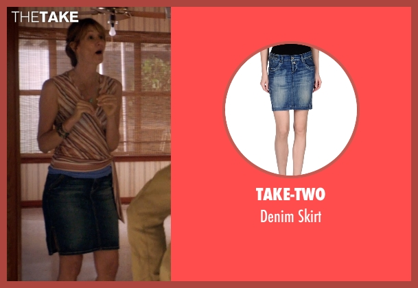 Take-Two blue skirt from 99 Homes seen with Laura Dern (Lynn Nash)