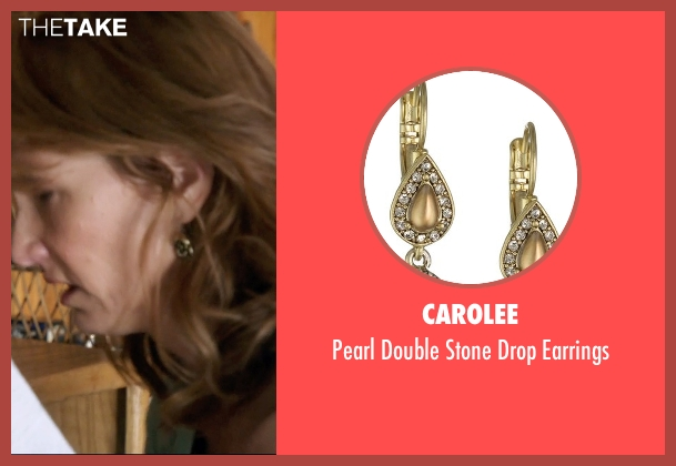Carolee gold earrings from 99 Homes seen with Laura Dern (Lynn Nash)