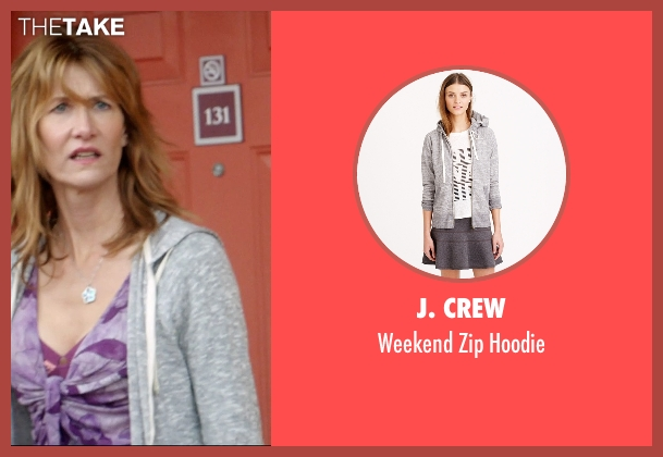 J. Crew gray hoodie from 99 Homes seen with Laura Dern (Lynn Nash)