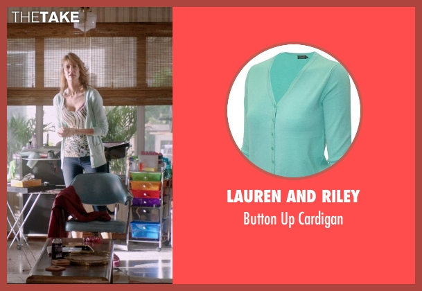Lauren And Riley green cardigan from 99 Homes seen with Laura Dern (Lynn Nash)