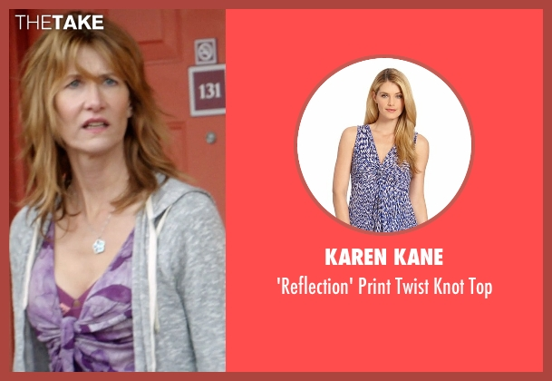 Karen Kane purple top from 99 Homes seen with Laura Dern (Lynn Nash)