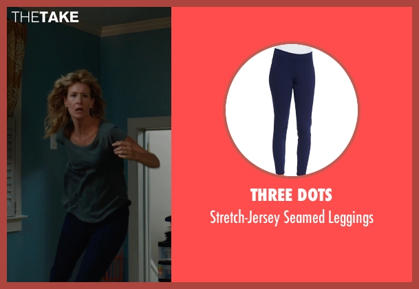 Three Dots blue leggings from The Fault In Our Stars seen with Laura Dern (Mrs. Lancaster)