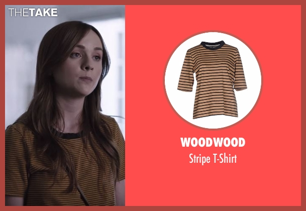 Woodwood brown t-shirt from Casual seen with Laura Meyers (Tara Lynne Barr)