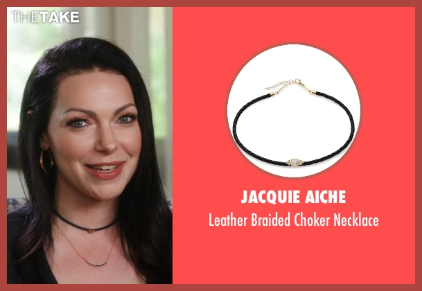 Jacquie Aiche black necklace from Chelsea seen with Laura Prepon