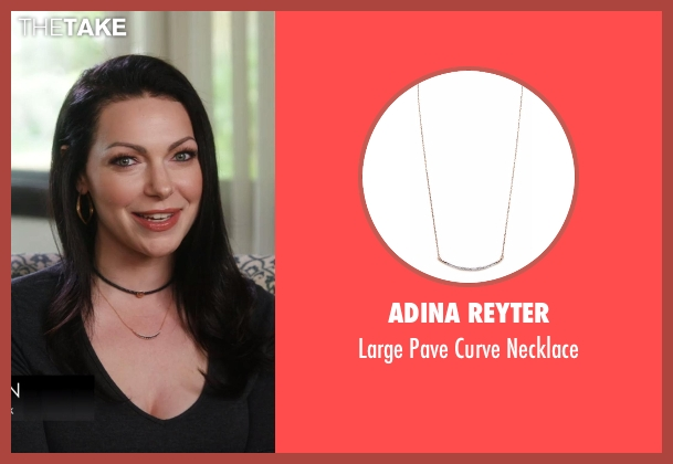 Adina Reyter gold necklace from Chelsea seen with Laura Prepon
