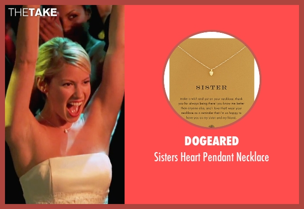 Dogeared gold necklace from She's The Man seen with Laura Ramsey (Olivia Lennox)