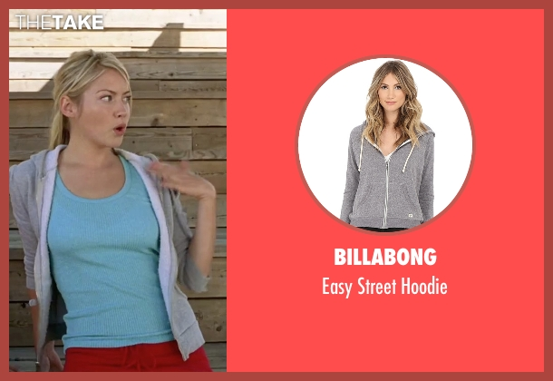 Billabong gray hoodie from She's The Man seen with Laura Ramsey (Olivia Lennox)