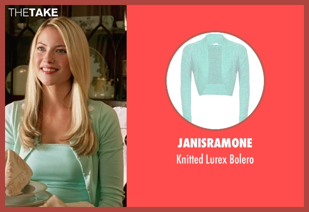 Janisramone green bolero from She's The Man seen with Laura Ramsey (Olivia Lennox)