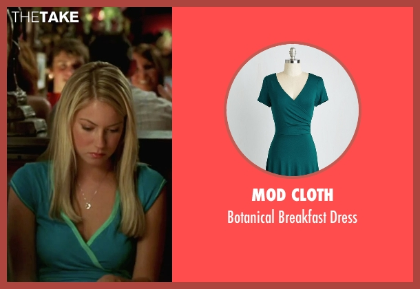 Mod Cloth green dress from She's The Man seen with Laura Ramsey (Olivia Lennox)
