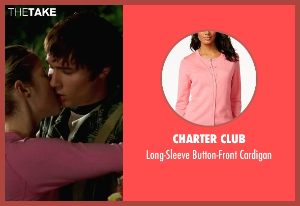 Charter Club pink cardigan from She's The Man seen with Laura Ramsey (Olivia Lennox)