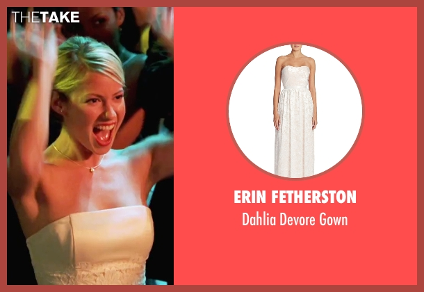 Erin Fetherston white gown from She's The Man seen with Laura Ramsey (Olivia Lennox)