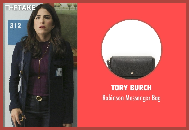 Tory Burch black bag from How To Get Away With Murder seen with Laurel Castillo (Karla Souza)