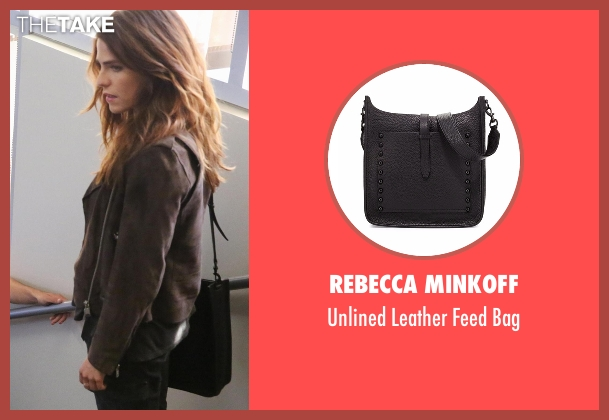 Rebecca Minkoff black bag from How To Get Away With Murder seen with Laurel Castillo (Karla Souza)