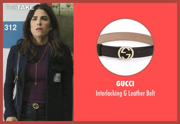 Gucci black belt from How To Get Away With Murder seen with Laurel Castillo (Karla Souza)