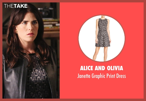 Alice And Olivia black dress from How To Get Away With Murder seen with Laurel Castillo (Karla Souza)