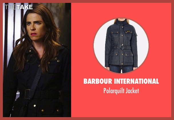 Calvin Klein black jacket from How To Get Away With Murder seen with Laurel Castillo (Karla Souza)