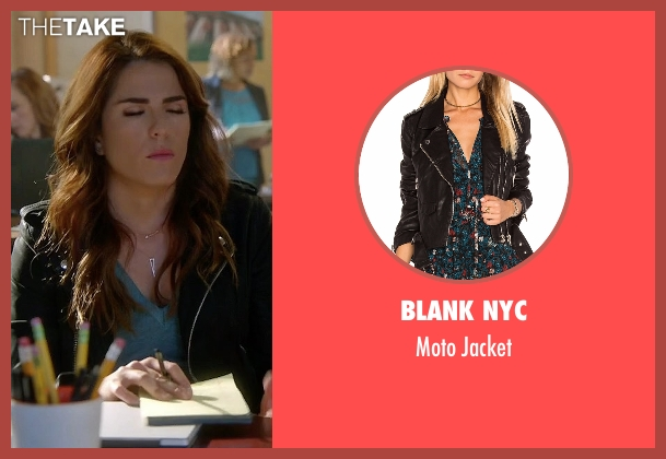 Blank NYC black jacket from How To Get Away With Murder seen with Laurel Castillo (Karla Souza)