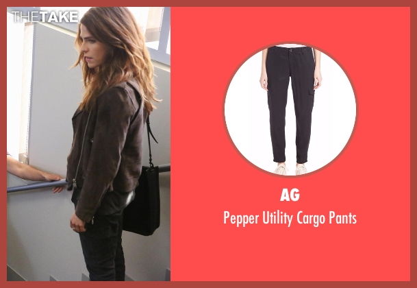AG black pants from How To Get Away With Murder seen with Laurel Castillo (Karla Souza)