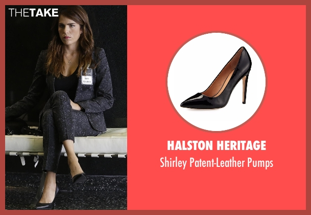 Halston Heritage black pumps from How To Get Away With Murder seen with Laurel Castillo (Karla Souza)