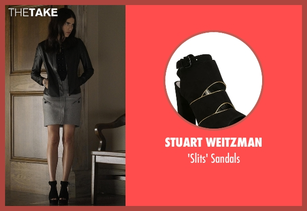 Stuart Weitzman black sandals from How To Get Away With Murder seen with Laurel Castillo (Karla Souza)