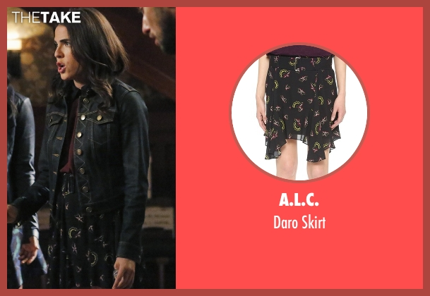 A.L.C. black skirt from How To Get Away With Murder seen with Laurel Castillo (Karla Souza)