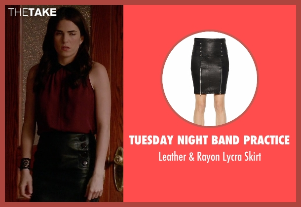 Tuesday Night Band Practice black skirt from How To Get Away With Murder seen with Laurel Castillo (Karla Souza)
